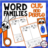 Word Families Cut and Paste