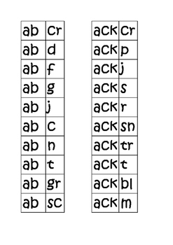 Word Families Cut and Paste K-2