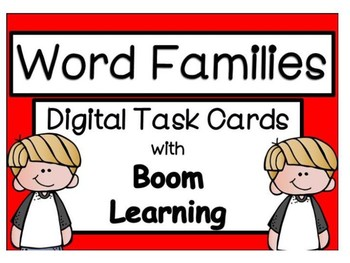 Word Families: Digital Task Cards with Boom Learning