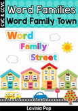 Word Family Town Word Wall (CVC and CCVC words)