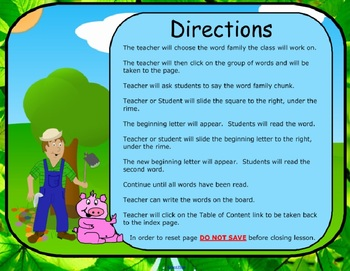 Word Families Down on the Farm Long & Short o  (SMARTBoard Lessons)