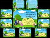 Word Families Down on the Farm Long & Short u  (SMARTBoard Lessons)