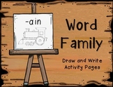 Word Families- Draw and Write Activity Pages