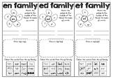 Word Families EN ED ET