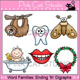 Word Families: Ending -th Digraphs Clip Art - Personal or Commercial Use