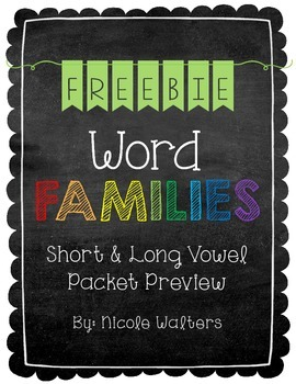 Word Families {FREEBIE}