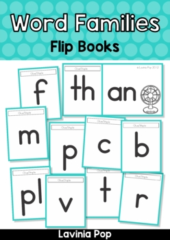 CVC Word Family Flip Books