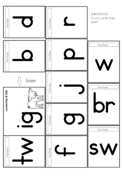CVC Word Family Flip Books
