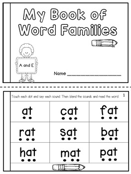 CVC Word Family Practice Fluency Book