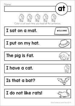 Word Family Reading Fluency