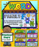 Short Vowels Word Families House Fun~Promethean Flip Chart & Wipe Off Mats