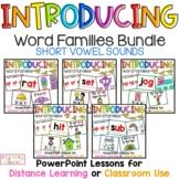 Word Families BUNDLE, PowerPoint Lessons, CVC Words, Dista
