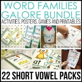 Word Families Galore Bundle-22 Weeks - Differentiated - Distance Learning