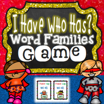 I Have Who Has CVC Word Game | CVC Word Game Short A