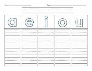 Word Families Graphic Organizer