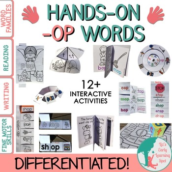 Word Families: Hands-On -OP Activities (Interactive and Differentiated)