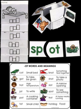 Word Families: Hands-On -OT Activities (Interactive and Differentiated)