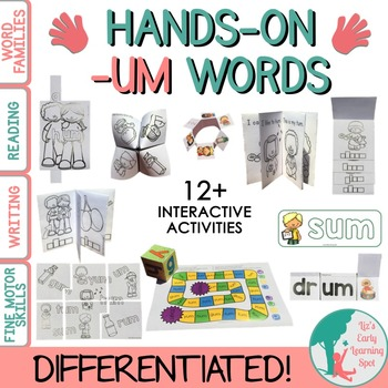 Word Families: Hands-On -UM Activities (Interactive and Di