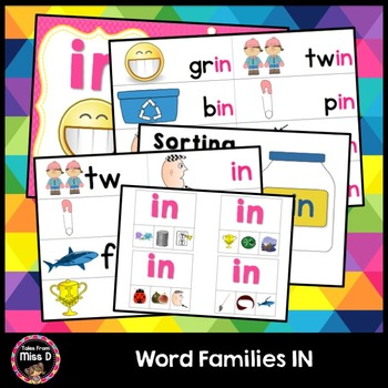 Word Families Activities IN
