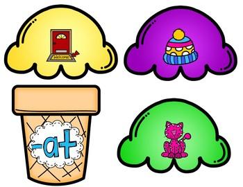 Word Families (Ice Cream Cone Puzzles)