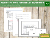 Word Families Key Experience & Materials - Elementary Montessori