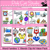 Clip Art Word Families: L Blends Value Pack - Personal or Commercial Use