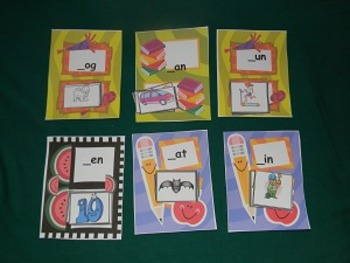 Word Families Literacy Center, Classroom Resource tool- Hard Good