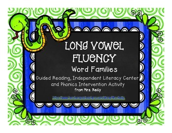 Word Families - Long Vowel Fluency