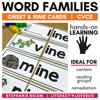 Word Families: Long Vowels CVCe Onset and Rime Cards