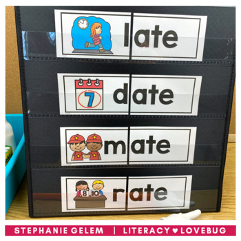 Word Families Long Vowels CVCe Onset and Rime Cards