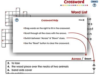 Word Families Long Vowels: Crossword - PC Gr. PK-2