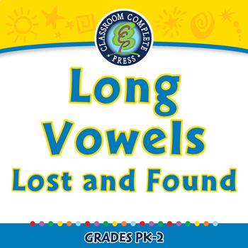 Word Families Long Vowels: Long Vowels Lost and Found - NOTEBOOK Gr. PK-2