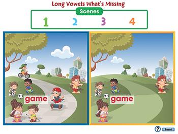 Word Families Long Vowels: Long Vowels What's Missing - MAC Gr. PK-2
