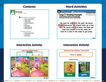 Word Families: Long Vowels - NOTEBOOK Gr. PK-2