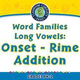 Word Families Long Vowels: Onset - Rime Addition - MAC Gr. PK-2