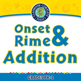 Word Families Long Vowels: Onset & Rime Addition - NOTEBOOK Gr. PK-2