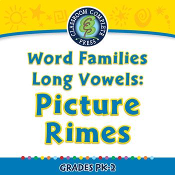 Word Families Long Vowels: Picture Rimes - NOTEBOOK Gr. PK-2