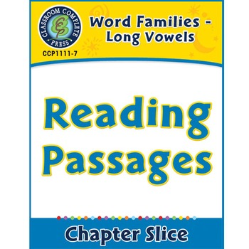 Word Families - Long Vowels: Reading Passages Gr. K-1
