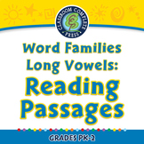 Word Families Long Vowels: Reading Passages - NOTEBOOK Gr. PK-2