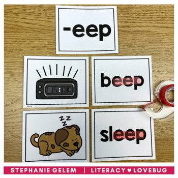 Word Families Long Vowels Sorts