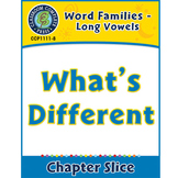 Word Families - Long Vowels: What's Different Gr. K-1