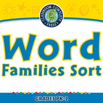 Word Families Long Vowels: Word Families Sort - NOTEBOOK Gr. PK-2