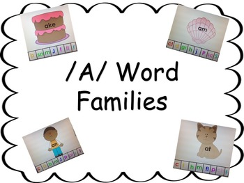 Word Families Making Words With /a/ Chunks Interactive Board Work