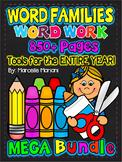 Word Families MEGA Bundle Pack- Short Vowels 800+ pages- 50% OFF BUNDLE PACK