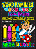 Word Families-CVC activities- Short Vowel Worksheets- MEGA BUNDLE-800+ pages