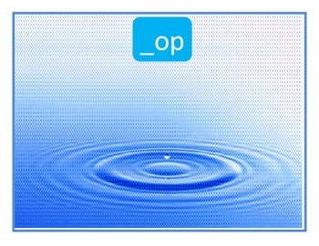 Word Families OT and OP Picture Sort: File Folder Activity