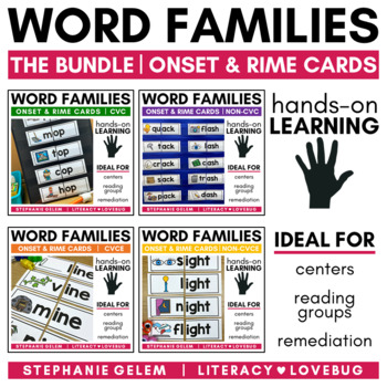 Word Families: Onset and Rime Cards BUNDLE