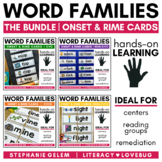 Word Families Onset and Rime Cards BUNDLE