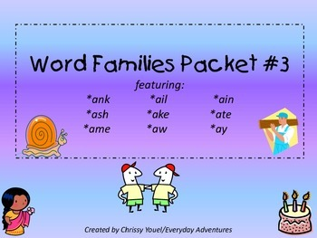 Word Families Pack 3