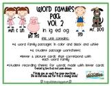 Word Families Pack Vol. 2 (ed, ig, og, & in)